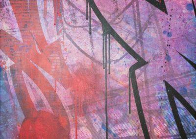 RED DRIPPIN' 2015   60 x 80 cm