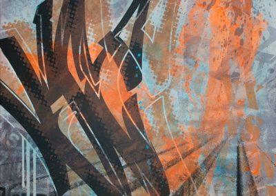 THE YARD 2015   80 x 100 cm
